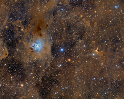 Iris and Ghost Nebula