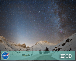 Zodiacal Ligth Over the Alps