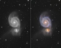 M51 - A game of Light and Color